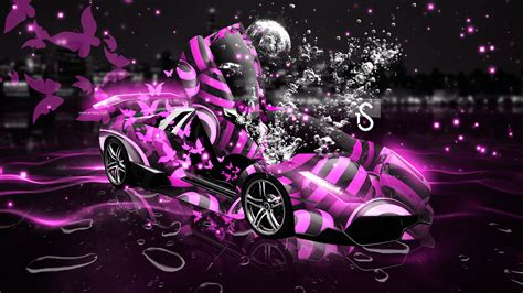 Cool Car Wallpapers For Desktop 3d Butterflies Wall by Neon Pink Butterfly Wallpaper Www Pixshark Images