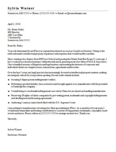 lawyer resume example best of sample attorney cover letter lateral