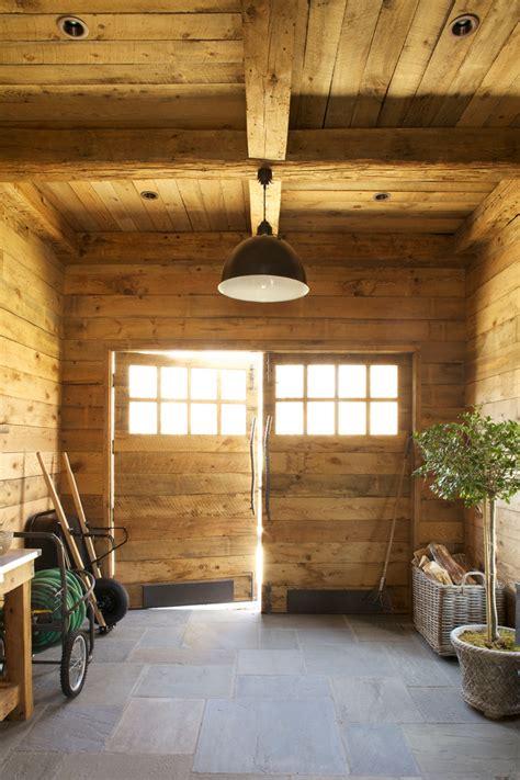 beautiful garden hose reel  garage  shed rustic