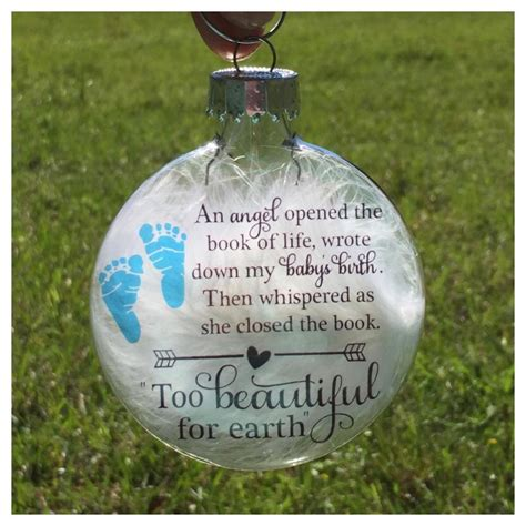 baby loss and christmas baby memorial ornament miscarriage keepsake baby loss