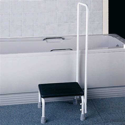 bathtub handrail bath step stool with hand rail bath steps complete