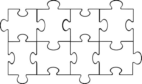 template for puzzle pieces puzzle template 6 pieces clipart best