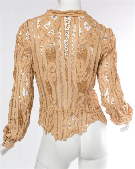 Handmade Lace For Sale - antique handmade lace blouse for sale at 1stdibs