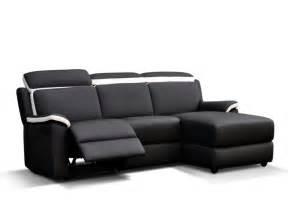 canap 233 d angle relax gris et blanc ou noir et blanc souffle