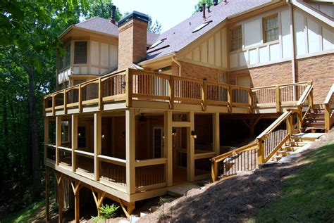 two story deck make a signature statement with a two story deckleisure time decks leisure time decks