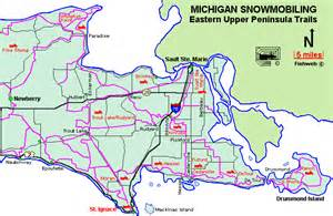Map Of Up Michigan by Upper Peninsula Snowmobile Trail Map Book Covers