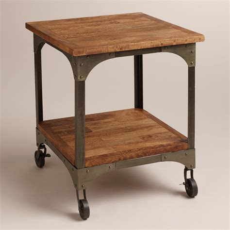 Industrial Side Table Aiden End Table Industrial Side Tables And End Tables By Cost Plus World Market