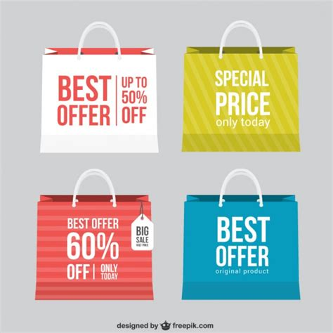 best free offers best offer shopping bags vector free