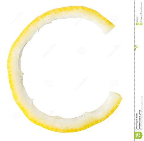 Lemon Letter Letter C Lemon Stock Image Image 3756101