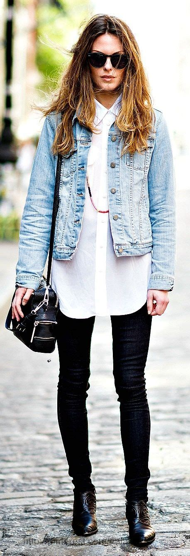 Blouse Cb 021 1 stylish tight white shirt and blue