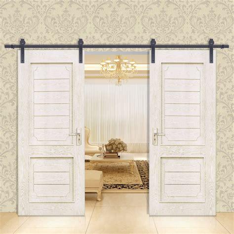 Closet Door Hanger Vevor Sliding Barn Wood Door Closet Hanger Gear Kit Track Rail Hardware Set Ebay