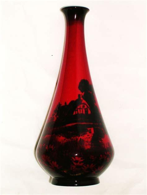 Royal Doulton Glass Vase by Royal Doulton Flambe Vase Artist Signed Noke C 1930s