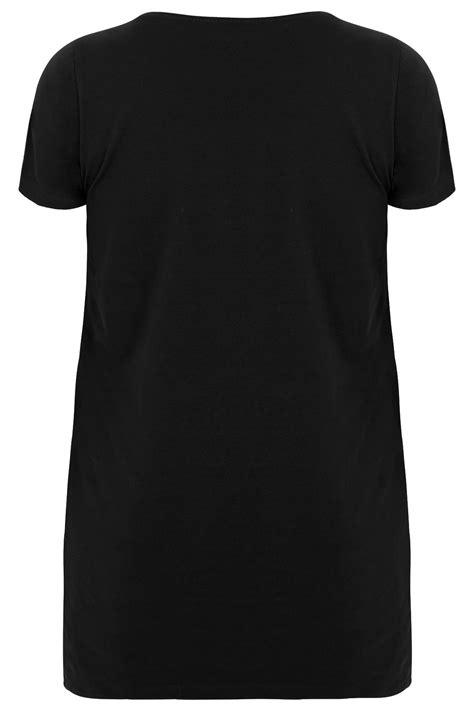 Tshirt Circle C3 t shirt noir ourlet arrondi