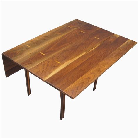 walnut drop leaf table buy a custom solid walnut drop leaf table made to order