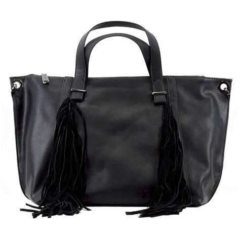 steve madden s blucyy fringe carryall tote handbag ebay