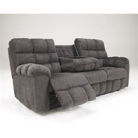 ashley furniture reclining sectional ashley furniture acieona 3 piece fabric reclining
