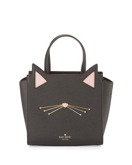 Kate Spade Mini Jazz Cat kate spade new york jazz things up hayden small cat tote bag black