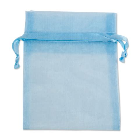 light blue organza organza bags large light blue organza jewellery bags