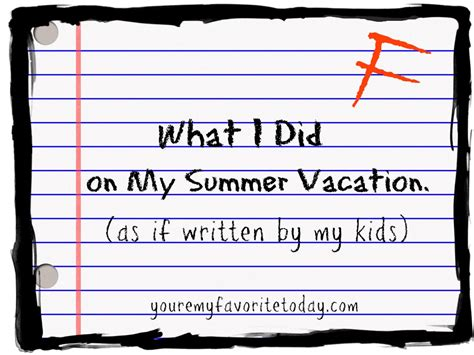 Letter Summer Vacation creative writing lesson ideas ks2 contoh application