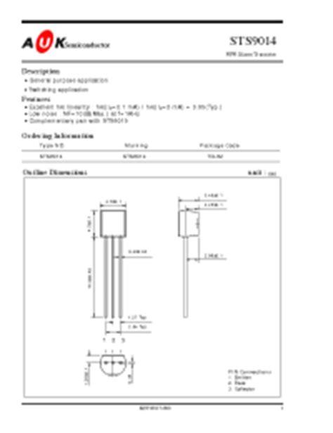 datasheet transistor fcs 9014 datasheet transistor fcs 9014 28 images sts9014 datasheet pdf kodenshi korea corp images