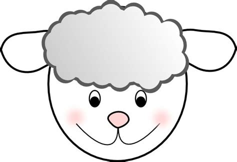 free printable sheep template sheep mask template printable craft paper plate