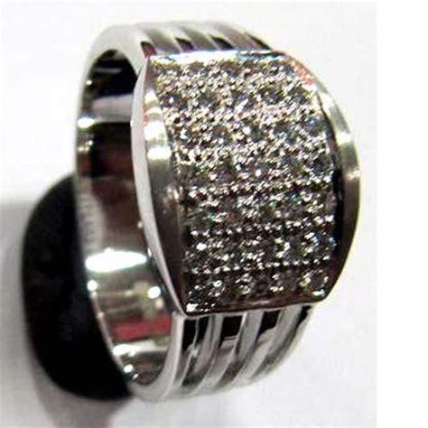 platinum ring with platinum gents ring
