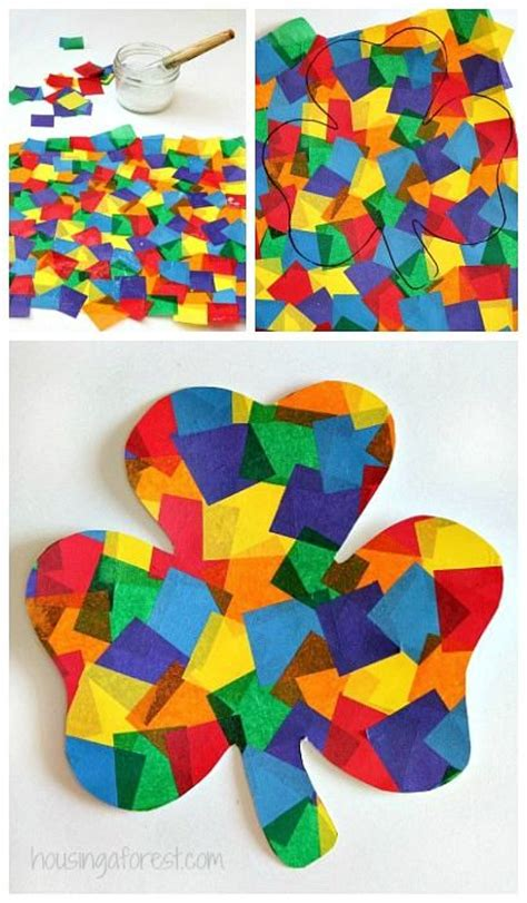 march craft ideas for rainbow shamrock craft pictures photos and images for