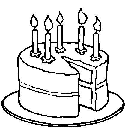 cake coloring page images coloring page of birthday cake for girls and kids