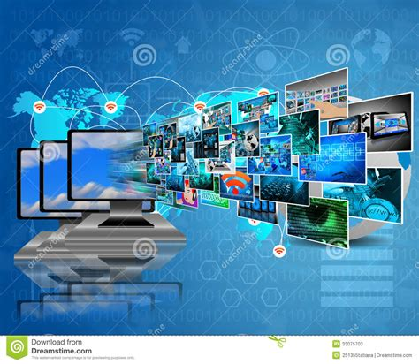 themes for computer exhibition data transfer stock photos image 33075703