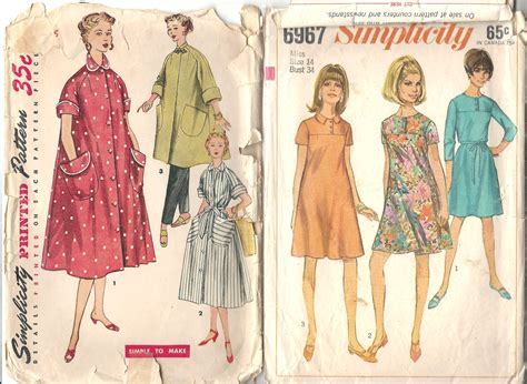 vintage clothing patterns clothes