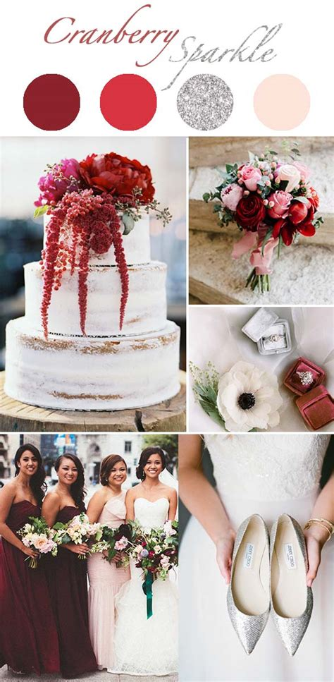 types  winter wedding color themes  presents cool