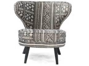 fauteuil 100 coton menski imprim 233 noir et blanc