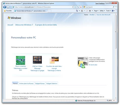 themes for windows 7 online windows 7 beta 1 la personnalisation du syst 232 me avec les
