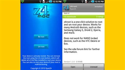 apk apps for rooted android z4root apk to root your android device