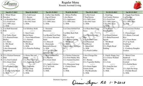 Nursing Home Menu Planning | menu planning nursing home house design plans