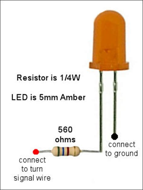 how to wire resistors for led lights dashboard lights rx3 adventure