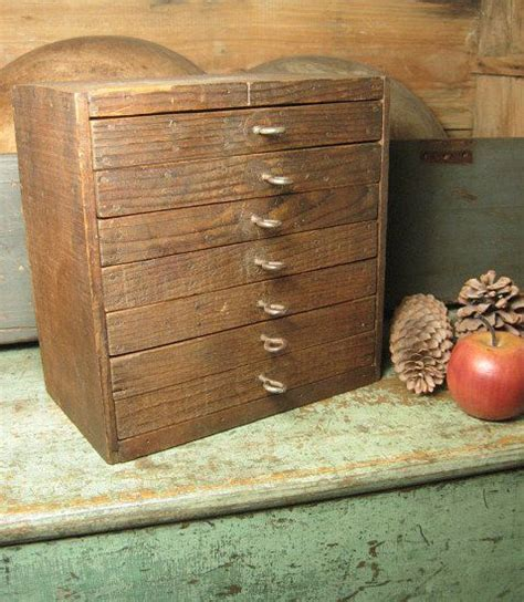 Handmade Primitives - wonderful unique handmade primitive 7 drawer wooden