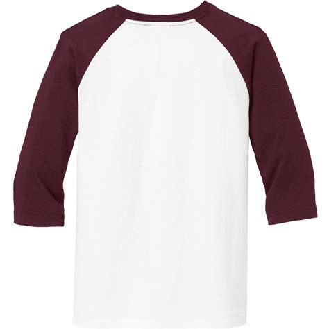 Tshirt Raglan Maroon 5 port company pc55yrs 3 4 sleeve raglan t shirt white