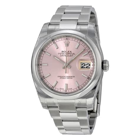 rolex datejust automatic pink stainless steel s