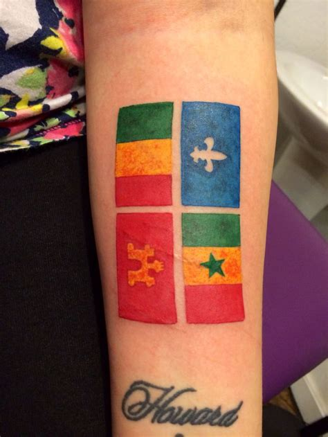 creole tattoo designs creole flag by fleur de lis flags