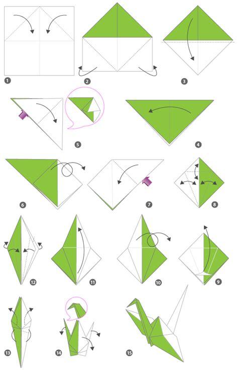 En Origami - grues en origami sur grues de papier et d