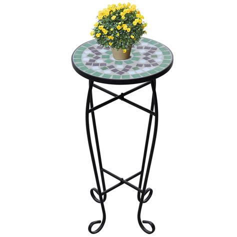 Outdoor Plant Table by New 4 Colours Mosaic Side Table Plant Flower Stand Garden