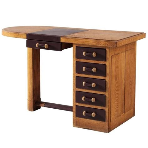 Small Oak Desks Small Oak Desk With Leather Top For Sale At 1stdibs