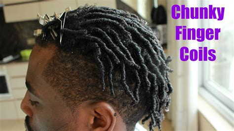 coils with a fade haircut men hair how to do chunky finger coils