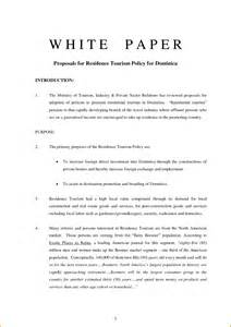 Writing A White Paper Format White Paper Report Template