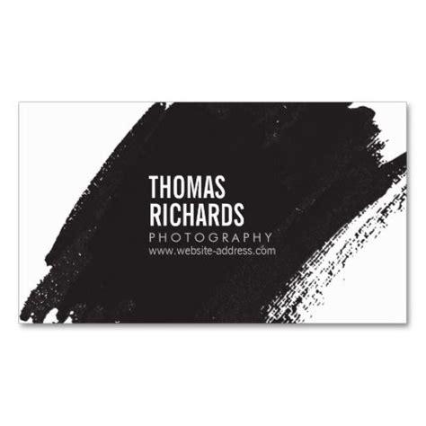 black grunge business card template black ink grunge brushstroke photographers business card