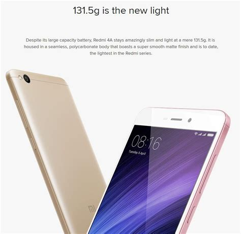 Terlaris New Xiaomi Redmi 4a Ram 2gb 16gb Garansi Distri 1 xiaomi redmi 4a 5 0 inch 2gb ram 16gb rom snapdragon 425 4g smartphone 11street