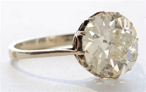 4 Engagement Ring by 4 Carat European Cut Platinum Engagement Ring