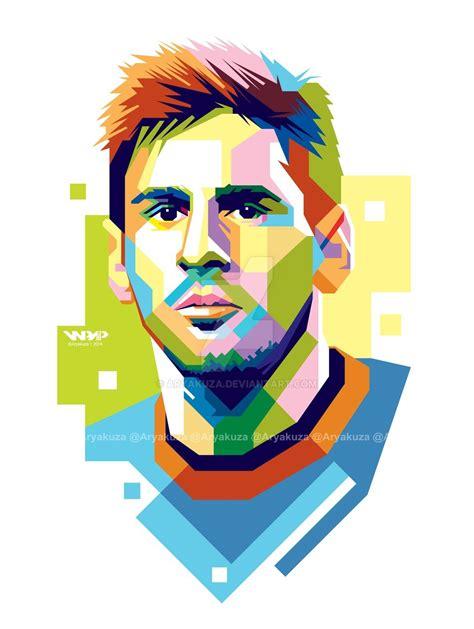 Football Artwork Messi 1 lionel messi in wpap by aryakuza lionel messi messi