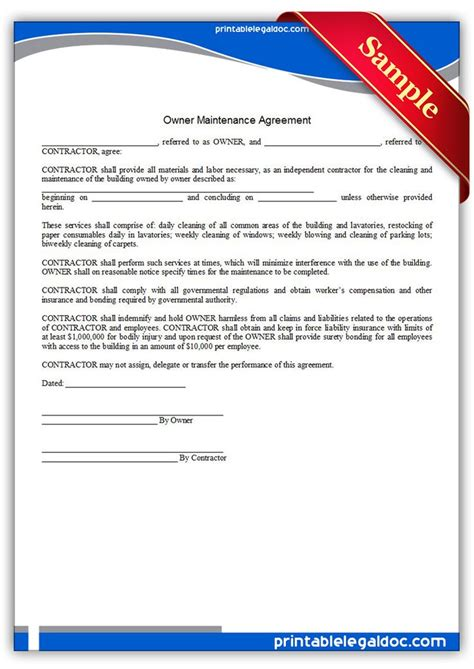 design build maintenance contract 806 best free legal forms images on pinterest free